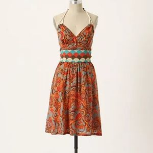 Anthropologie Moulinette Soeurs Halter Neck dress